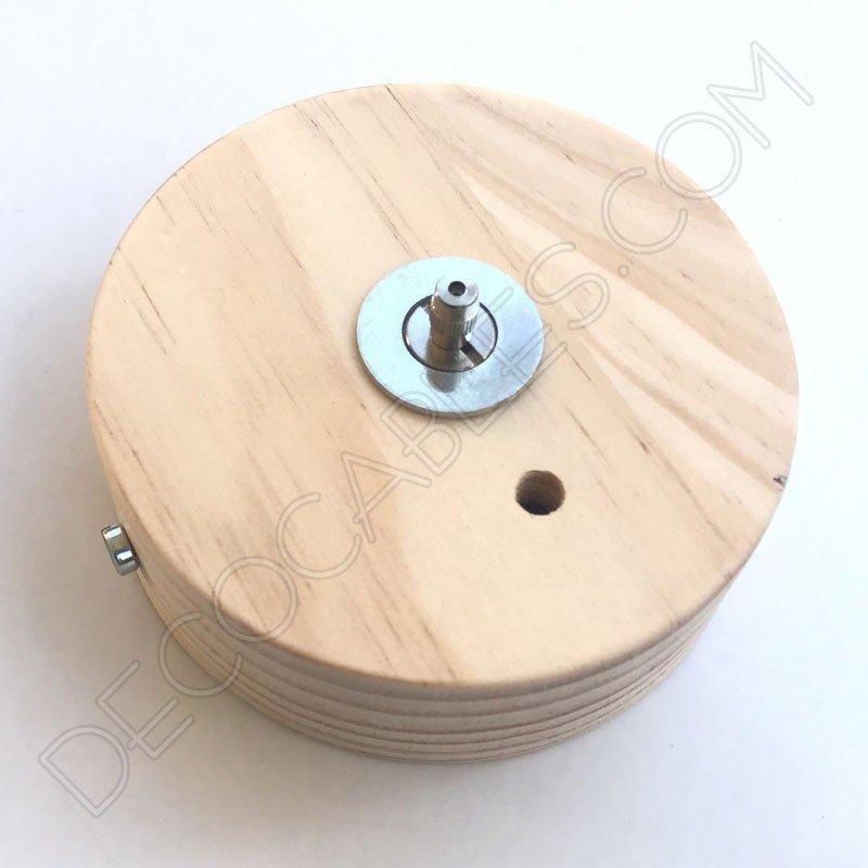 Soporte de techo de madera de pino con tensor para - Lamparas de madera para techo ...