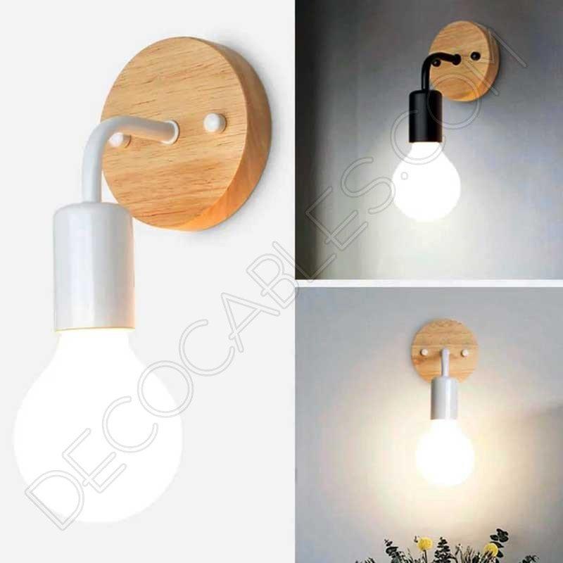 d88ecff9249 Lámpara Aplique de pared en Madera y Metal al mejor precio