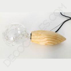 Lámpara colgante de madera modelo abeja