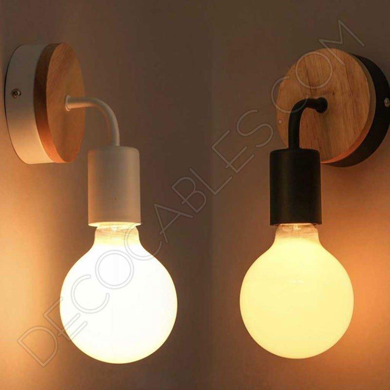 Lámpara Aplique de pared en Madera y Metal al mejor precio