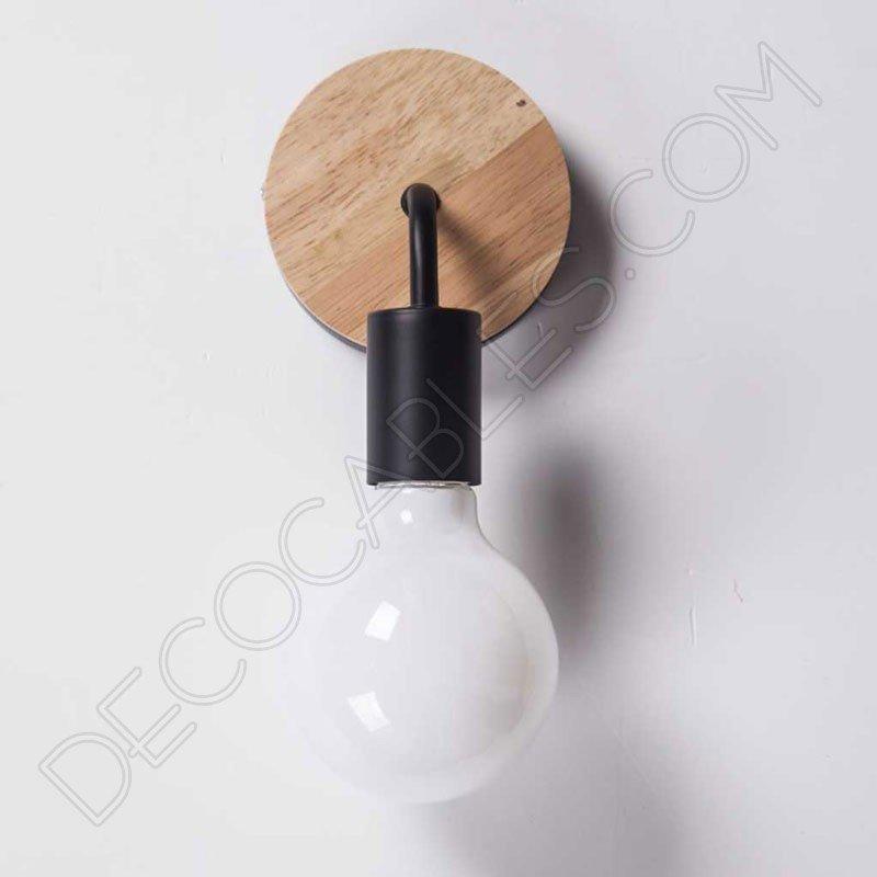 L mpara aplique de pared en madera y metal al mejor precio - Lamparas de aplique para pared ...