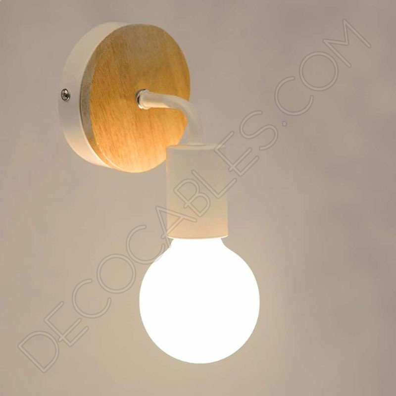 L mpara aplique de pared en madera y metal al mejor precio - Lamparas y apliques rusticos ...