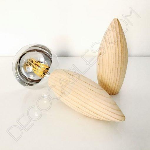 Portalámparas de madera modelo abeja