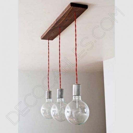 Regleta de madera para lámpara colgante