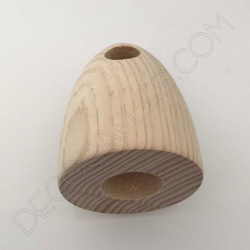 L mpara colgante de madera modelo campana decocables for Modelos de lamparas