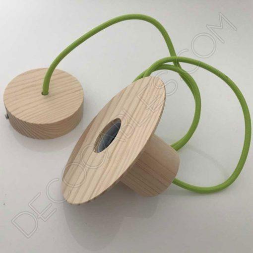 Lámpara colgante de madera modelo sombrero