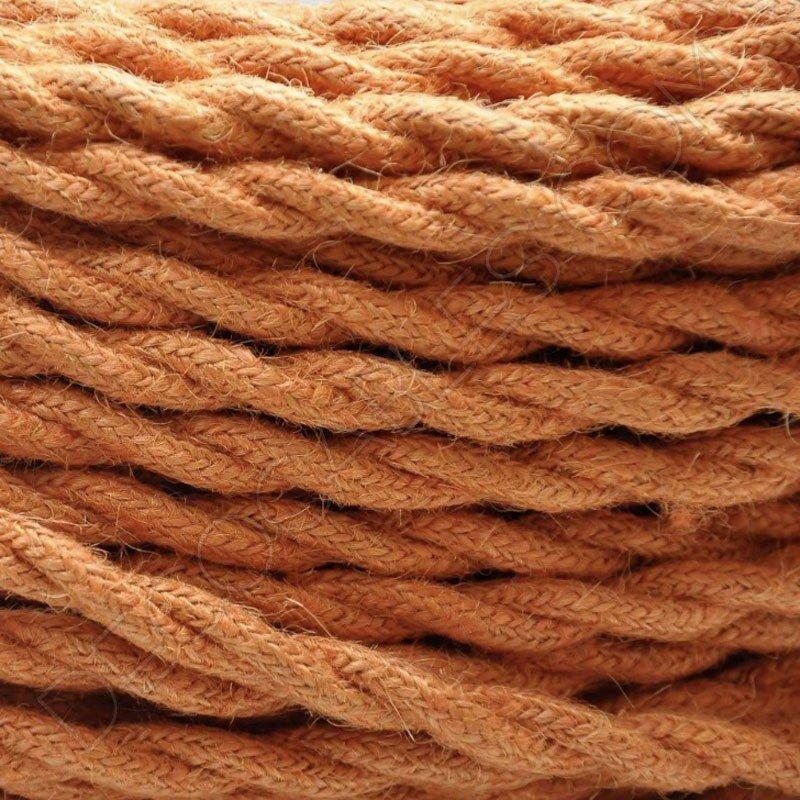 cable elctrico trenzado de cuerda de camo naranja - Cuerda De Caamo
