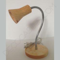 Flexo de escritorio de madera brazo articulado cromado