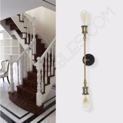 Lámpara Aplique de pared dos brazos vintage