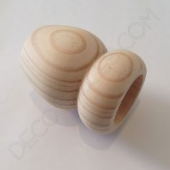 Portalámparas de madera doble bola