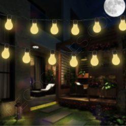 Guirnalda de luces de feria para exterior