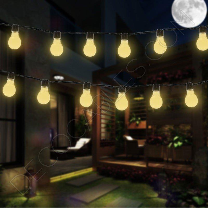Guirnalda luces de feria b sica decocables for Guirnaldas de luces para exterior