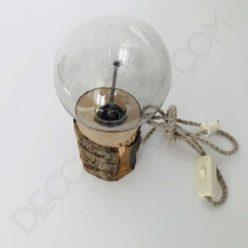 Lámpara de sobremesa corteza de árbol