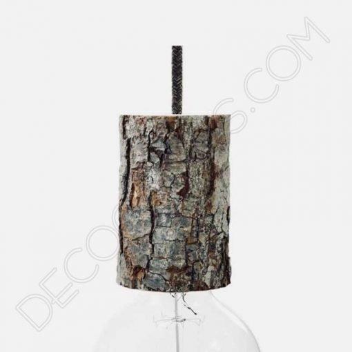 Lámpara colgante corteza de árbol