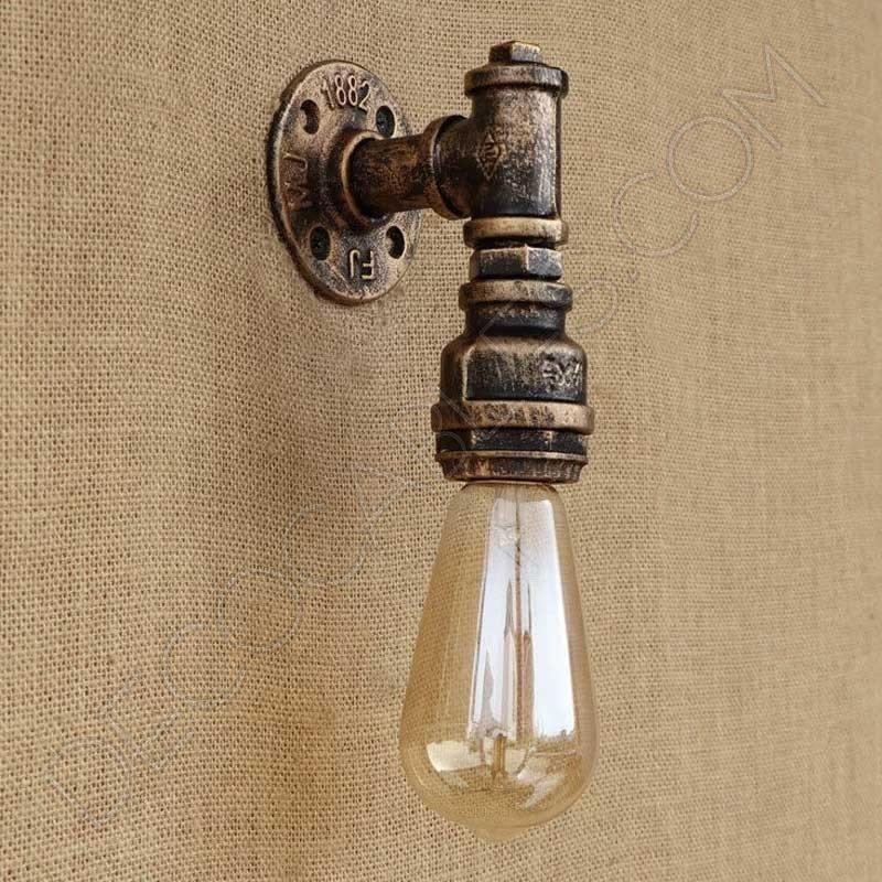 Aplique de pared l mpara de tuber a estilo industrial al - Lamparas de aplique para pared ...