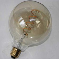 Bombilla globo filamento led espiral ámbar 4 vatios
