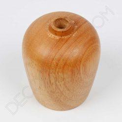 Cubre portalámparas de madera de roble modelo bellota