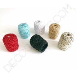 Cubre portalámparas textil en algodón de varios colores