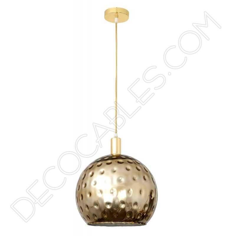 L mpara colgante de cristal esmaltado en varios colores al - Limpiar lamparas de cristal ...