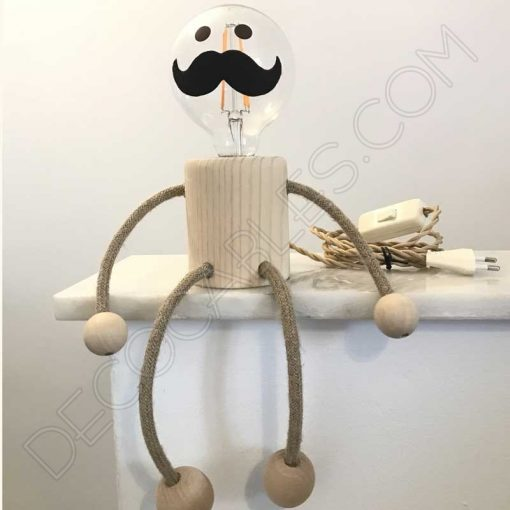 Lámpara-muñeco-de-sobremesa-en-madera-modelo-don-bigotes