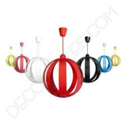 Lámpara colgante esfera modelo Magali varios colores