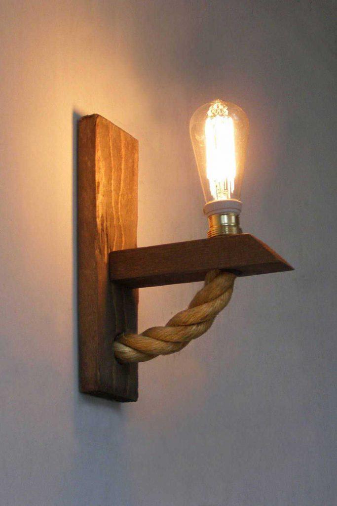 Lámpara cuerda trenzada