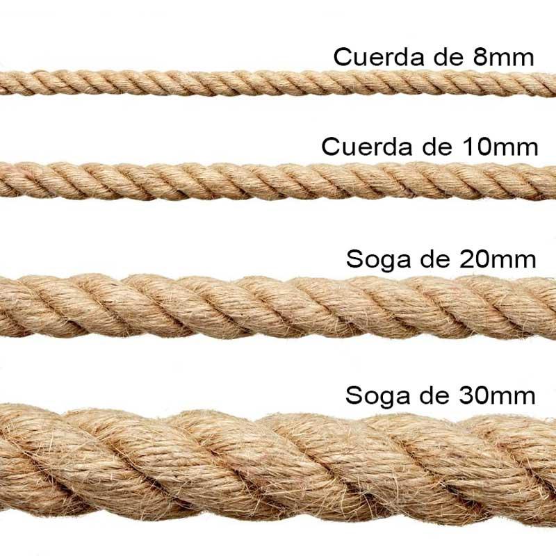 Cable de cuerda grosor