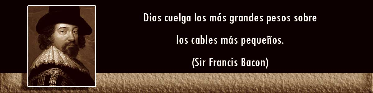 Cables Decorativos - frases de Sir Francis Bacon
