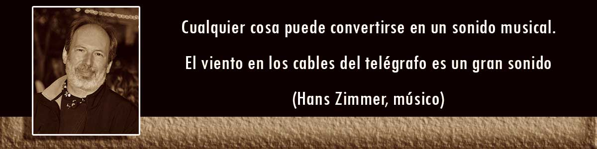 Cables trenzados - frases de Hans Zimmer