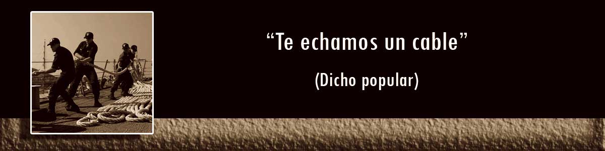 frases populares - echar un cable
