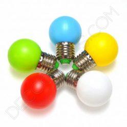 Bombilla esférica led varios colores