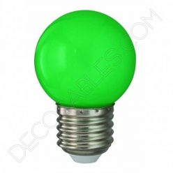 Bombilla esférica led verde
