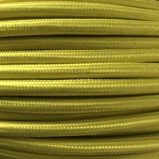 Cable textil eléctrico amarillo limón