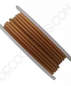 Cable de silicona marrón claro