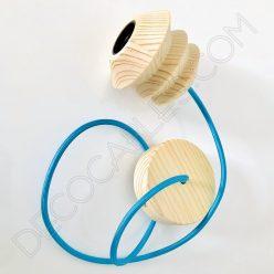 Lámpara colgante de madera modelo pagoda