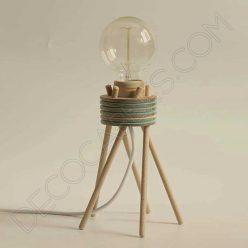Lámpara de sobremesa de madera modelo Sofi
