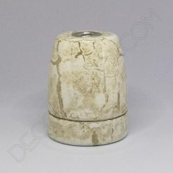 Portalámparas cerámico imitación mármol casquillo E27