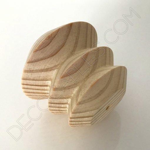 Portalámparas de madera modelo pagoda