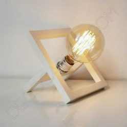 Lámpara de sobremesa de madera modelo marco de foto