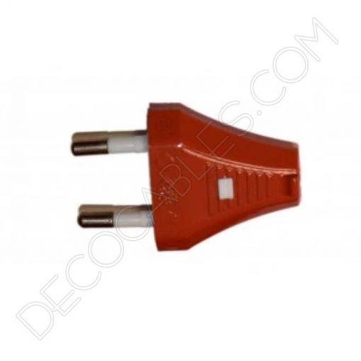 Clavija decorativa roja para lámparas