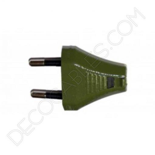 Clavija decorativa verde para lámparas
