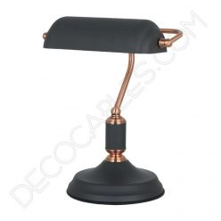Lámpara decorativa de mesa de oficina y gabinete Vintage