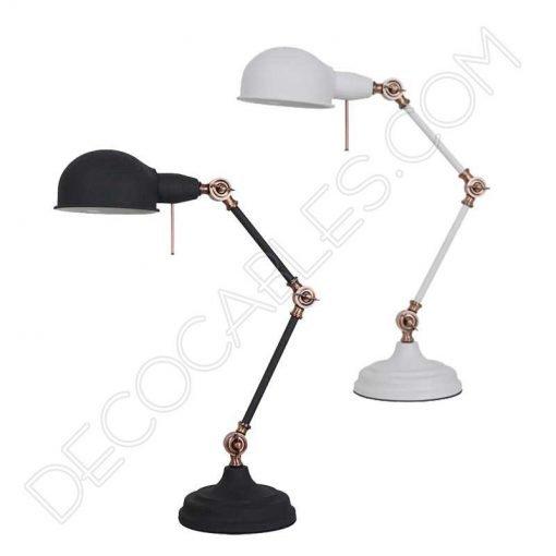Lámpara flexo de escritorio Vintage articula