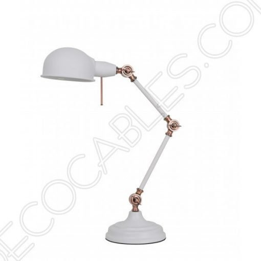 Lámpara flexo de escritorio Vintage articula blanca