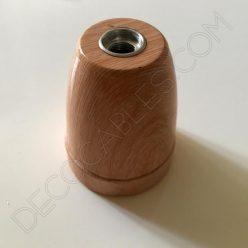 Portalámparas cerámica imitación madera