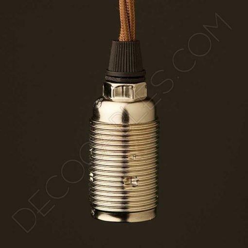 Portalámparas metálico vintage E14
