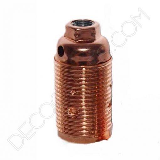 Portalámparas metálico vintage E14 cobre