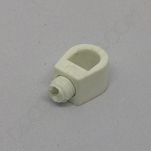Presa cables plástico para sujeción interna del cable color blanco
