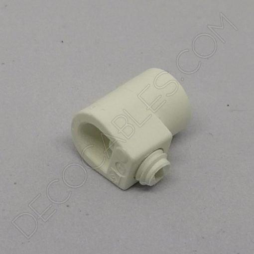 Presa cables plástico para tubo roscado color blanco