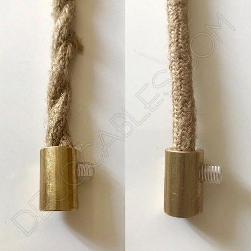 Presa cables de latón especial para cable de cuerda